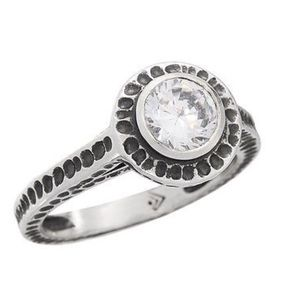 Silpada Perfect Bliss Sterling Silver and CZ Ring